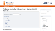 Alabama Agricultural Experiment Station (AAES) Reports